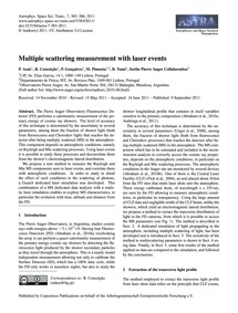 Multiple Scattering Measurement with Las... by Assis, P.