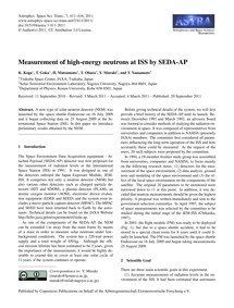 Measurement of High-energy Neutrons at I... by Koga, K.