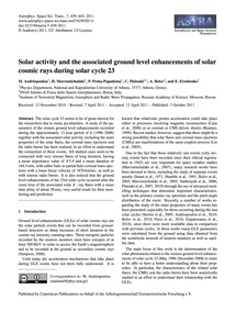 Solar Activity and the Associated Ground... by Andriopoulou, M.