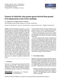 Features of Relativistic Solar Proton Sp... by Vashenyuk, E. V.