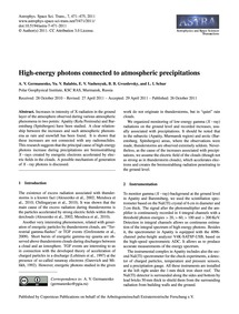 High-energy Photons Connected to Atmosph... by Germanenko, A. V.