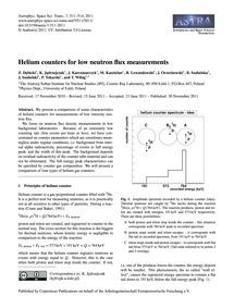 Helium Counters for Low Neutron Flux Mea... by Dębicki, Z.