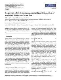 Temperature Effect of Muon Component and... by Berkova, M.