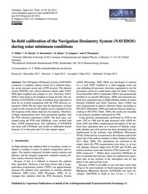In-field Calibration of the Navigation D... by Möller, T.
