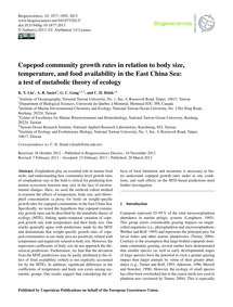 Copepod Community Growth Rates in Relati... by Lin, K. Y.