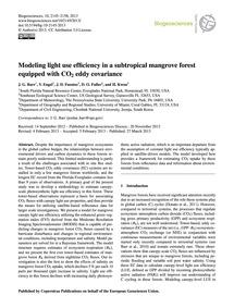 Modeling Light Use Efficiency in a Subtr... by Barr, J. G.