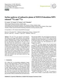 Surface Pathway of Radioactive Plume of ... by Aoyama, M.