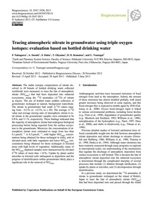 Tracing Atmospheric Nitrate in Groundwat... by Nakagawa, F.
