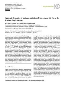 Seasonal Dynamics of Methane Emissions f... by Hanis, K. L.