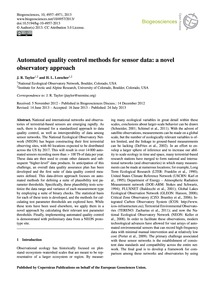 Automated Quality Control Methods for Se... by Taylor, J. R.