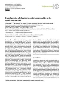 Cyanobacterial Calcification in Modern M... by Couradeau, E.