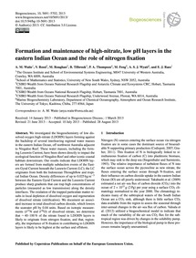 Formation and Maintenance of High-nitrat... by Waite, A. M.