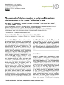 Measurements of Nitrite Production in an... by Santoro, A. E.
