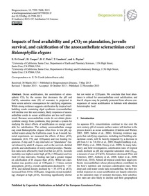 Impacts of Food Availability and PCo2 on... by Crook, E. D.