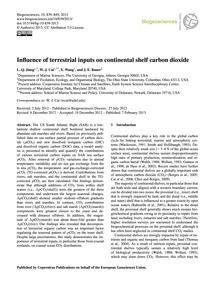 Influence of Terrestrial Inputs on Conti... by Jiang, L.-q.
