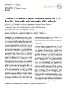 Trace Metal Distribution in Pristine Per... by Antcibor, I.