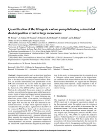 Quantification of the Lithogenic Carbon ... by Bressac, M.