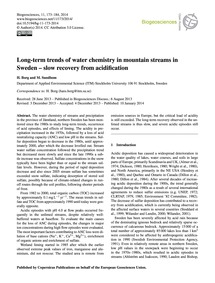 Long-term Trends of Water Chemistry in M... by Borg, H.