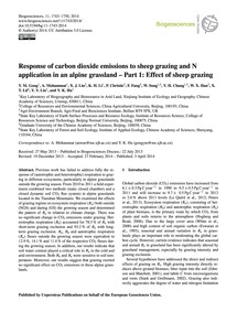 Response of Carbon Dioxide Emissions to ... by Gong, Y. M.