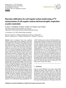 Bayesian Calibration of a Soil Organic C... by Ahrens, B.