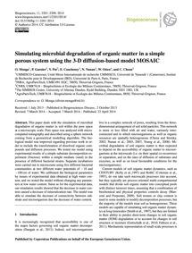 Simulating Microbial Degradation of Orga... by Monga, O.