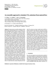 An Ensemble Approach to Simulate Co2 Emi... by Eliseev, A. V.