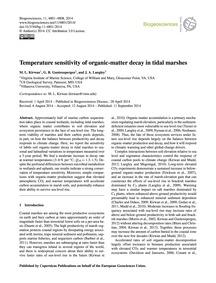 Temperature Sensitivity of Organic-matte... by Kirwan, M. L.