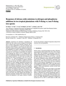 Responses of Nitrous Oxide Emissions to ... by Zhang, W.