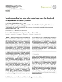 Implications of Carbon Saturation Model ... by White, C. M.