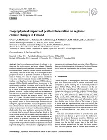 Biogeophysical Impacts of Peatland Fores... by Gao, Y.