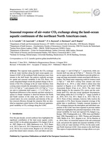 Seasonal Response of Air–water Co2 Excha... by Laruelle, G. G.