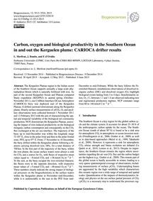 Carbon, Oxygen and Biological Productivi... by Merlivat, L.