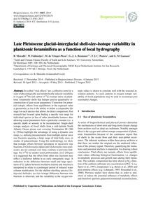 Late Pleistocene Glacial–interglacial Sh... by Metcalfe, B.