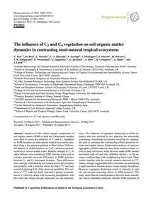 The Influence of C3 and C4 Vegetation on... by Saiz, G.