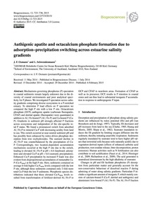 Authigenic Apatite and Octacalcium Phosp... by Oxmann, J. F.