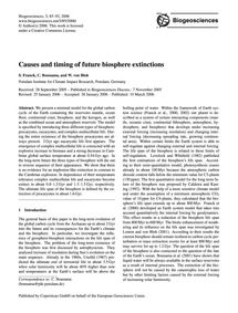 Causes and Timing of Future Biosphere Ex... by Franck, S.