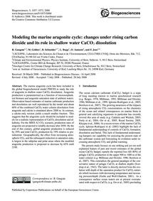 Modeling the Marine Aragonite Cycle: Cha... by Gangstø, R.