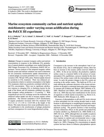 Marine Ecosystem Community Carbon and Nu... by Beller, R. G. J.