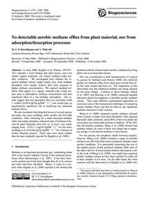 No Detectable Aerobic Methane Efflux fro... by Kirschbaum, M. U. F.