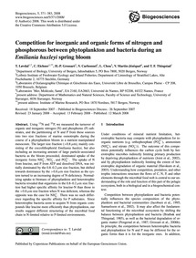 Competition for Inorganic and Organic Fo... by Løvdal, T.