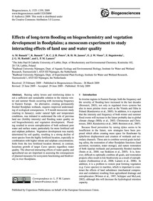 Effects of Long-term Flooding on Biogeoc... by Banach, A. M.