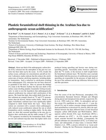 Planktic Foraminiferal Shell Thinning in... by De Moel, H.