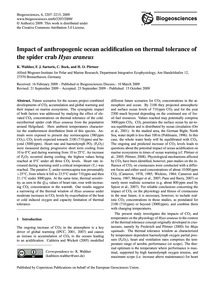 Impact of Anthropogenic Ocean Acidificat... by Walther, K.