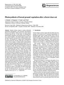 Photosynthesis of Boreal Ground Vegetati... by Kulmala, L.