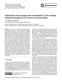 Optimization of the Seasonal Cycles of S... by Nakatsuka, Y.