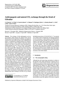 Anthropogenic and Natural Co2 Exchange T... by Huertas, I. E.