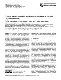 Primary Production During Nutrient-induc... by Egge, J. K.
