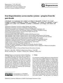Iron Biogeochemistry Across Marine Syste... by Breitbarth, E.