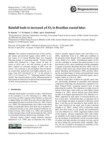 Rainfall Leads to Increased PCo2 in Braz... by Marotta, H.