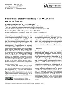 Sensitivity and Predictive Uncertainty o... by Staudt, K.